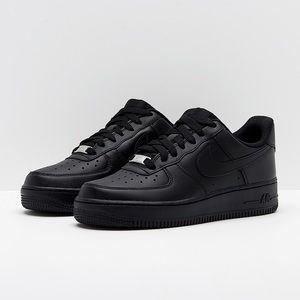 Nike Women's Air Force 1 Shoes - BLACK